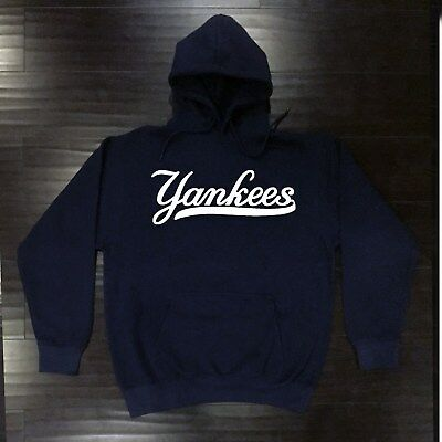official photos a5135 58dc1 New York Yankees Hooded Sweat Shirt Cotton Hoodie Adult Sweatshirt Men NY  NYY | eBay