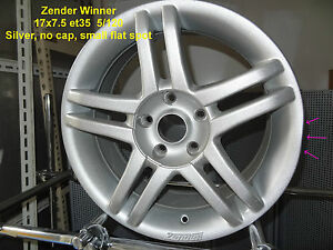 GENUINE-ZENDER-WINNER-WHEEL-17x7-5-SILVER-5x120-BMW-ALLOY-RIM-MAG-SPARE