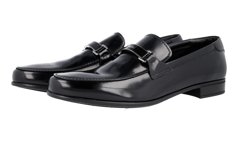 Auth LUXURY PRADA Negocios Zapatos Mocasín 2DB145 Negro Nuevo 7 41 41,5