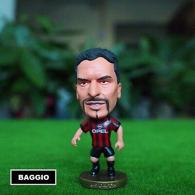 Statuina doll ROBERTO BAGGIO #10 AC MILAN football action figure il divin codino