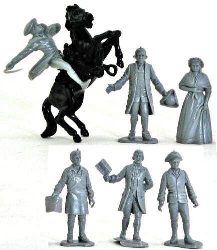 Marx Recast 1776 Johnny Tremain Characters colors vary Disney Commemorative