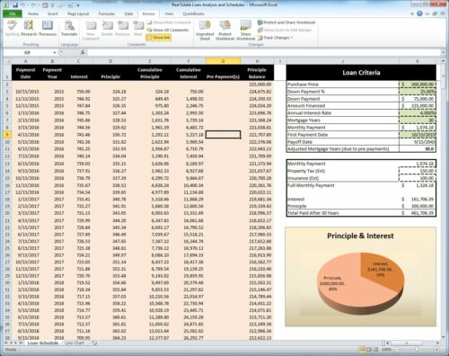 Loan Analysis and Schedules