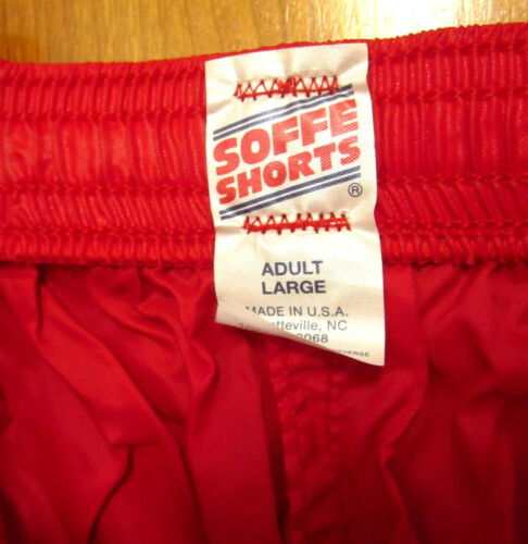 SOFFE SHORTS crimson flamingo vtg OG gym shorts NEW cheerleader athletic