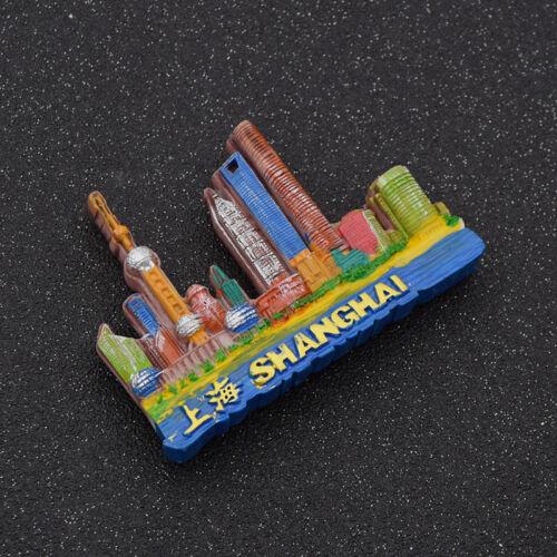 3D Resin Shanghai Fridge Magnet Charm Refrigerator Sticker Decor Travel Souvenir