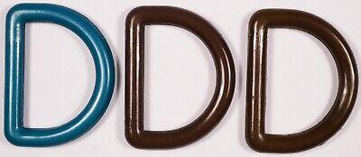 4x 20mm D ringsbrownblue 20.5mm inner width webbing
