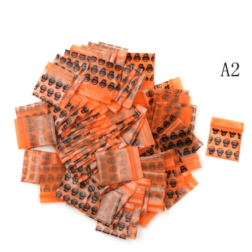 100 Bags Clear 8MIL Small Poly BagRecloseable  BAGS Plastic Baggie /_DS