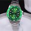 Business-Men-Automatic-quartz-Mechanical-Stainless-Steel-Calendar-Military-Watch thumbnail 14