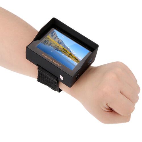 "3.5/"" LCD Wrist CCTV Camera Test Display Monitor Tester DC 12V Video Input F5P6"