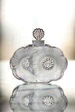 Lalique Crystal  Two 2 Flowers Perfume Bottle 1130100