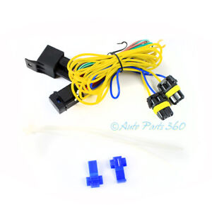 image is loading fog-lights-lamps-wiring-harness-kit-w-9006-