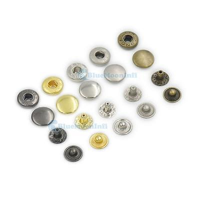 """3//8/"""" 1//2/"""" 5//8/"""" 10mm 12mm 15mm Rapid Leather Rivet Button Snaps Fastener 10 25 50"""
