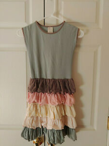 Girl-Persnickety-Macie-Jane-Tiered-Ruffle-Dress-Pastel-Spring-Summer-Size-8-Year