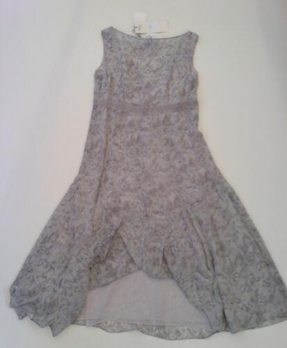 Bnwt Episode grise Robe soie bordure en 6 Taille ruban doublée petit en avec UUgqfwr