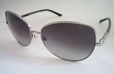 Occhiali da sole Burberry BE 3054 1006/8 G Argento Nero Vera Nuovo Con Etichetta