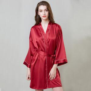 Women-039-s-Nightwear-Loungewear-Casual-Nightgown-Lace-Up-Sleepwear-Babydoll-Dress