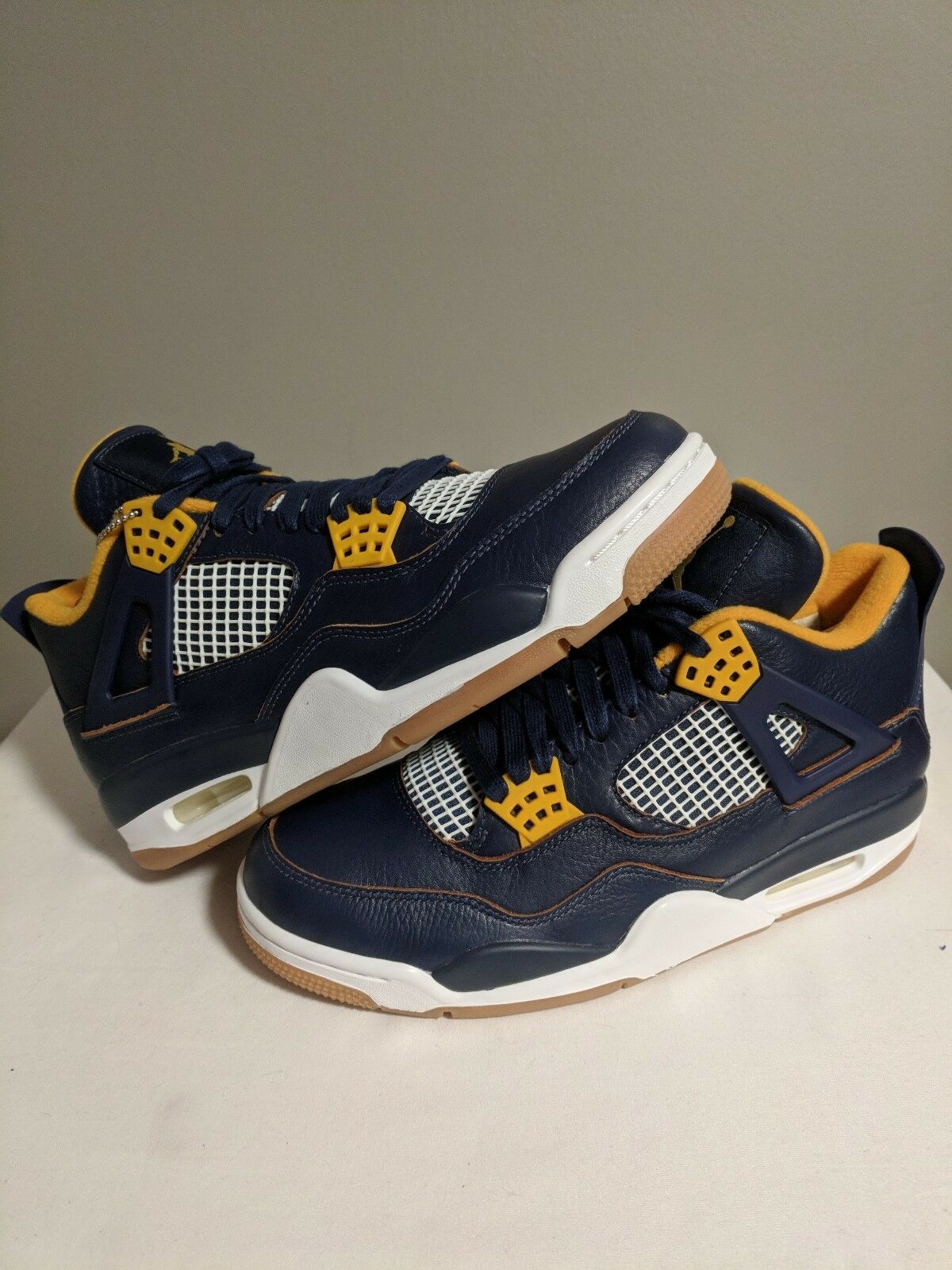 Air Jordan 4 IV Retro 'Dunk From From From Above' Navy gold White Size 8 DS brand new b52d0f