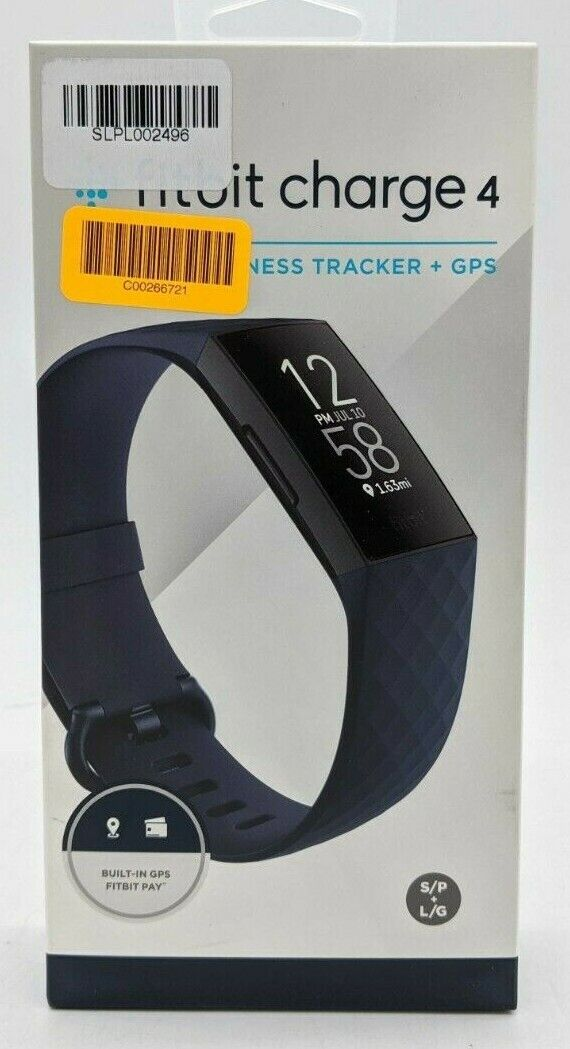Fitbit Charge 4 Fitness Tracker + GPS - Storm Blue/Black FB417BKNV -CSS1047