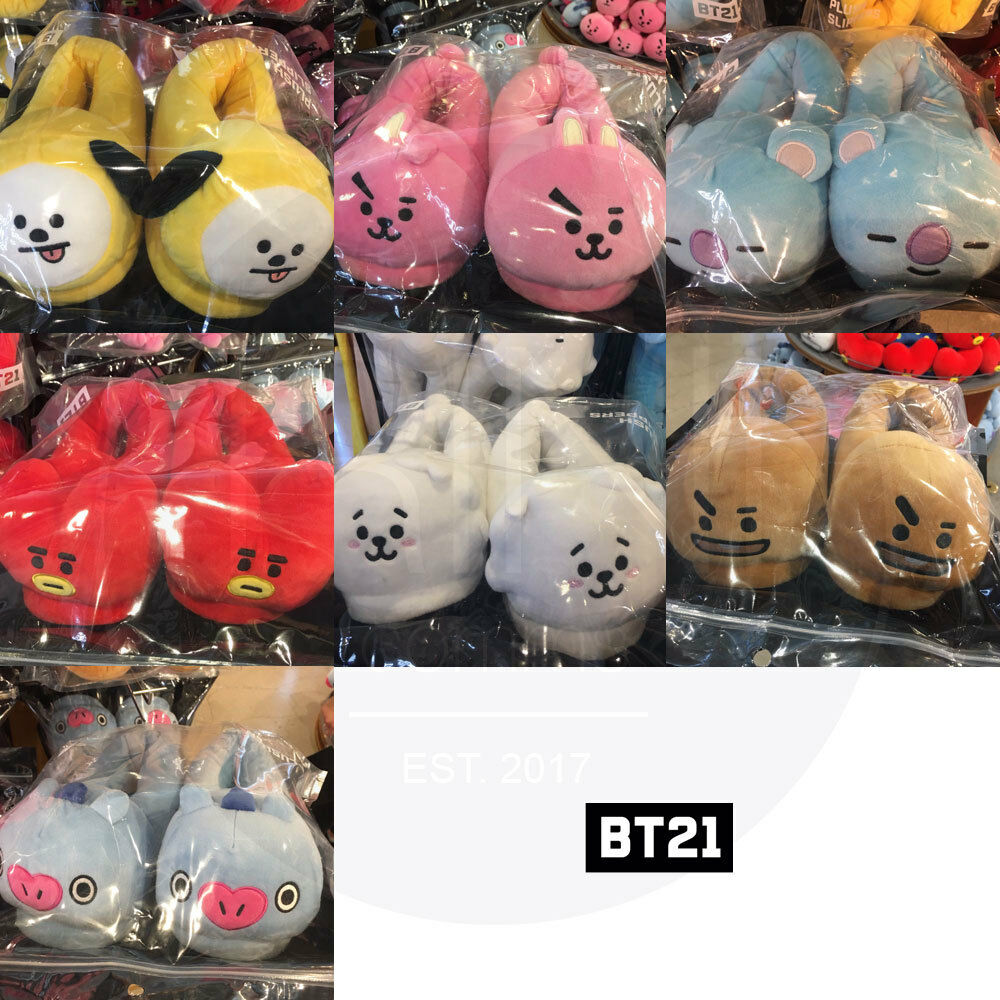BTS BT21 Official Authentic Goods Indoor Slippers 7Characters + Track Number