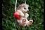 HANGING-HEDGEHOG-GARDEN-TREE-ORNAMENT-DECORATION-FUN-GIFT-UK-SELLER miniatura 1