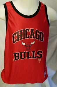 best loved 900d9 d8ae2 Details about Vintage Chicago Bulls Jersey Mens Sz L NBA 80s Logo 7 Tank  Top Practice Red