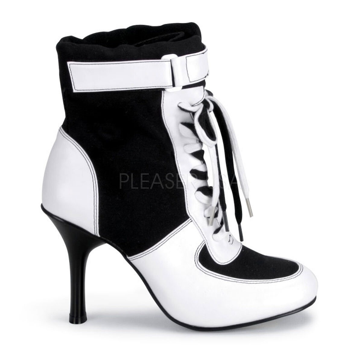 Black White Referee Soccer Player Sneaker Boots Halloween Costume Shoes 7 8 9 10