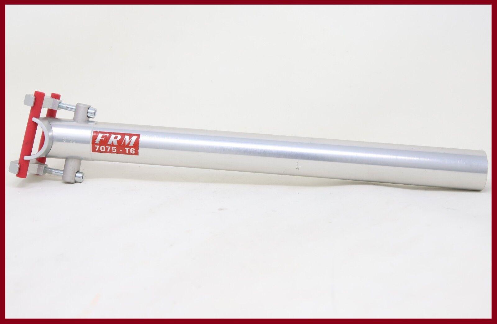 Nuevo viejo stock FRM tija de sillín aleación 29,8mm 7075-T6 Aluminio Hecho en Italia 00s Vintage Plata