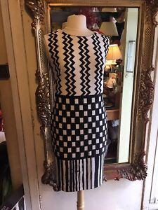 Et Taille Style 171828 Noire Blanche Robe Ribkoff Dames Pour 12 Joseph kuwOPZXiT