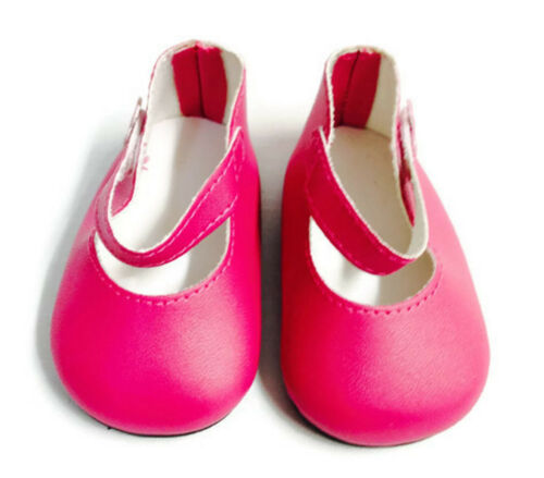 Dark Pink Mary Jane Shoes for 18 inch American Girl Doll Clothes
