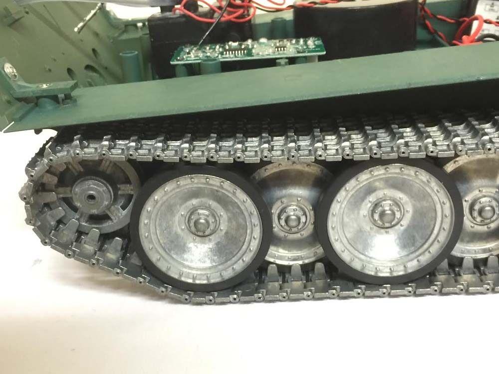 Le rythme cardiaque est pire pire pire que l'action! Heng Long Radio TélécomFemmede RC GerFemme Jagdpanther Tank Platinum version fdd154