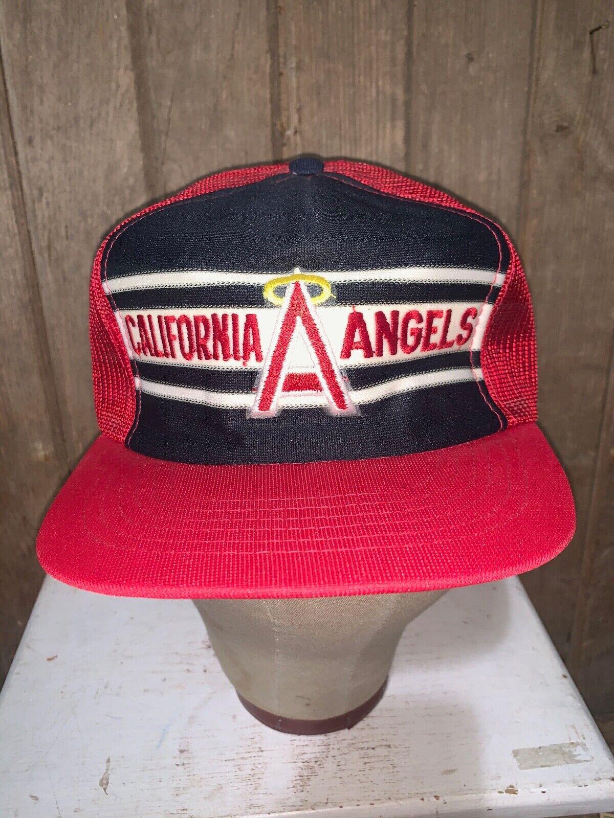 VINTAGE 80s Rare California Angels Red MLB Baseba… - image 1