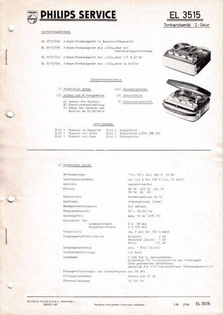 Manuel D'Instructions Service pour Philips El 3515 2-Spur