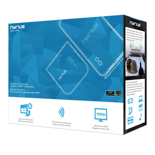 Nyrius ARIES Home Wireless HDMI 2x Input Transmitter /& Receiver for Streaming