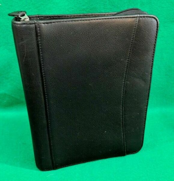 Franklin Covey Classic Planner Black Faux Leather 7 Ring