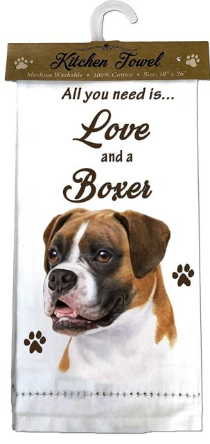 """YORKIE Kitchen Towel 18/"""" by 26/"""" All You Need is...Love /& a Bulldog"""