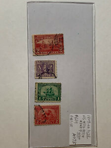 1909-20 USA Stamp Lot AD75 Catalog 372,537,548-9