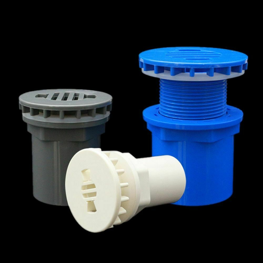 Fish Tank Drain Connector Tubes Flange Type Connection UPVC Materials Round Head