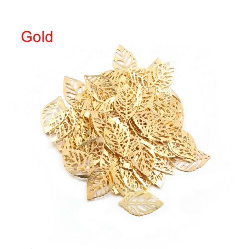 Necklace Gold Hollow Leaves Pendant Metal Jewelry Accessories DIY craft