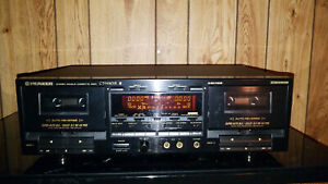 Pioneer-CT-W802R-Stereo-Cassette-Deck-With-Dual-Deck-Recording-REFURBISHED