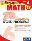 Singapore Math 70 Must-Know Word Problems Level 6, Grade 7 by Frank Schaffer Publications (Paperback, 2009)