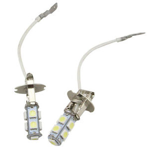 2pcs-H3-CREE-Super-Bright-LED-White-Fog-Tail-DRL-Head-Car-Light-Bulb-NEW