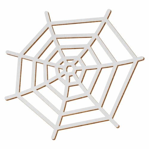 Deko Zuschnitte Größenauswahl Silbernes Holz Spinnennetz
