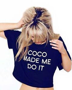 COCO-MADE-ME-DO-IT-CROP-TOP-T-SHIRT-TEE-PARIS-INDIE-VOGUE-WOMENS-FUN-fashion-NEW