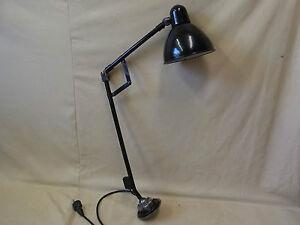 Alte siemens emaille tischlampe gelenkarm art deco lampe bauhaus