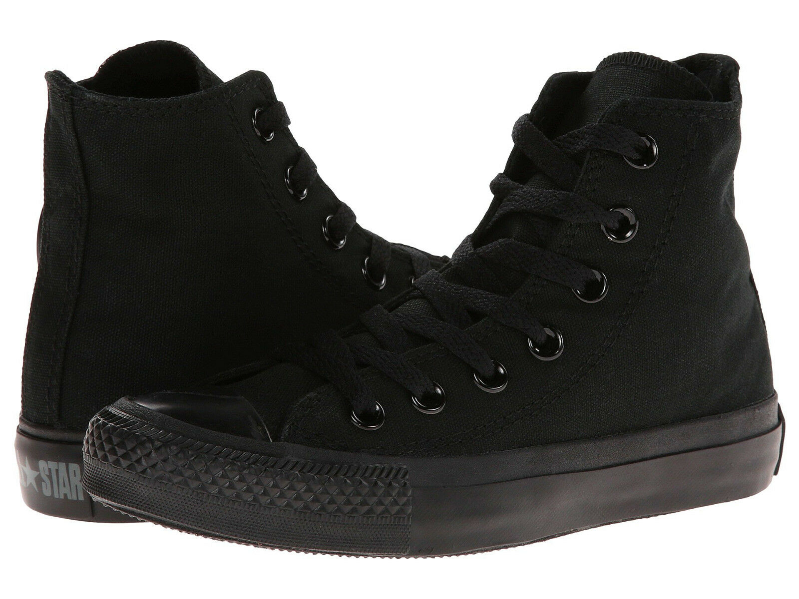 Converse All Star Hi Tops Black Mono Mens Womens Sneakers Tennis Shoes