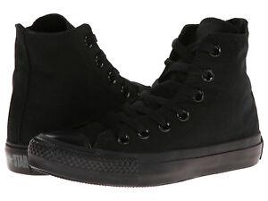 Converse-All-Star-Hi-Tops-Black-Mono-Mens-Womens-Sneakers-Tennis-Shoes