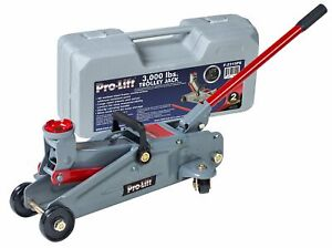 Floor-Jack-Ton-3-Hydraulic-Heavy-Duty-Steel-handle-Trolley-Profile-Lift-and-Cas