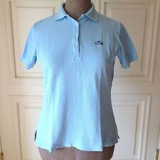 De Colección icónico Tenis Polo Lacoste Izod LT Azul Shirt Top camiseta L 100% algodón