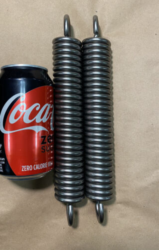 """Details about  /.262"""" Wite Heavy Duty Extension Spring Lot Of 2"""