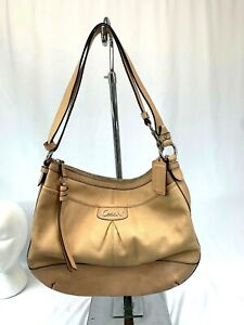 Coach-Z33009-Park-Leather-North-South-Duffle-Shoulder-Bag-Parchment-Peach-Color