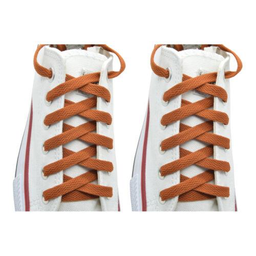 "2 Pairs Flat 27,36,45,54,63/"" Athletic Sports Sneaker Coffee Shoelace Strings"
